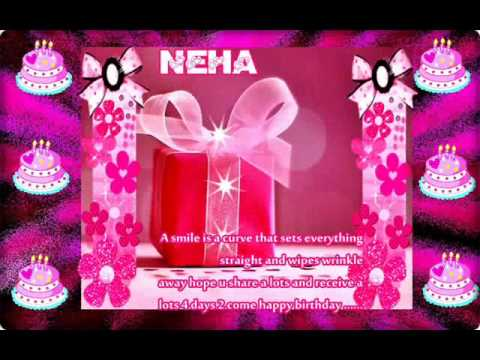 happy birthday neha youtube on birthday cake name of neha