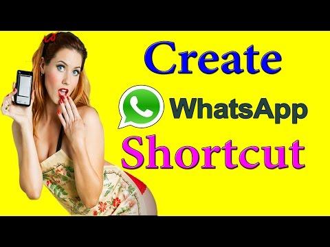 Create Whatsapp Text Shortcut