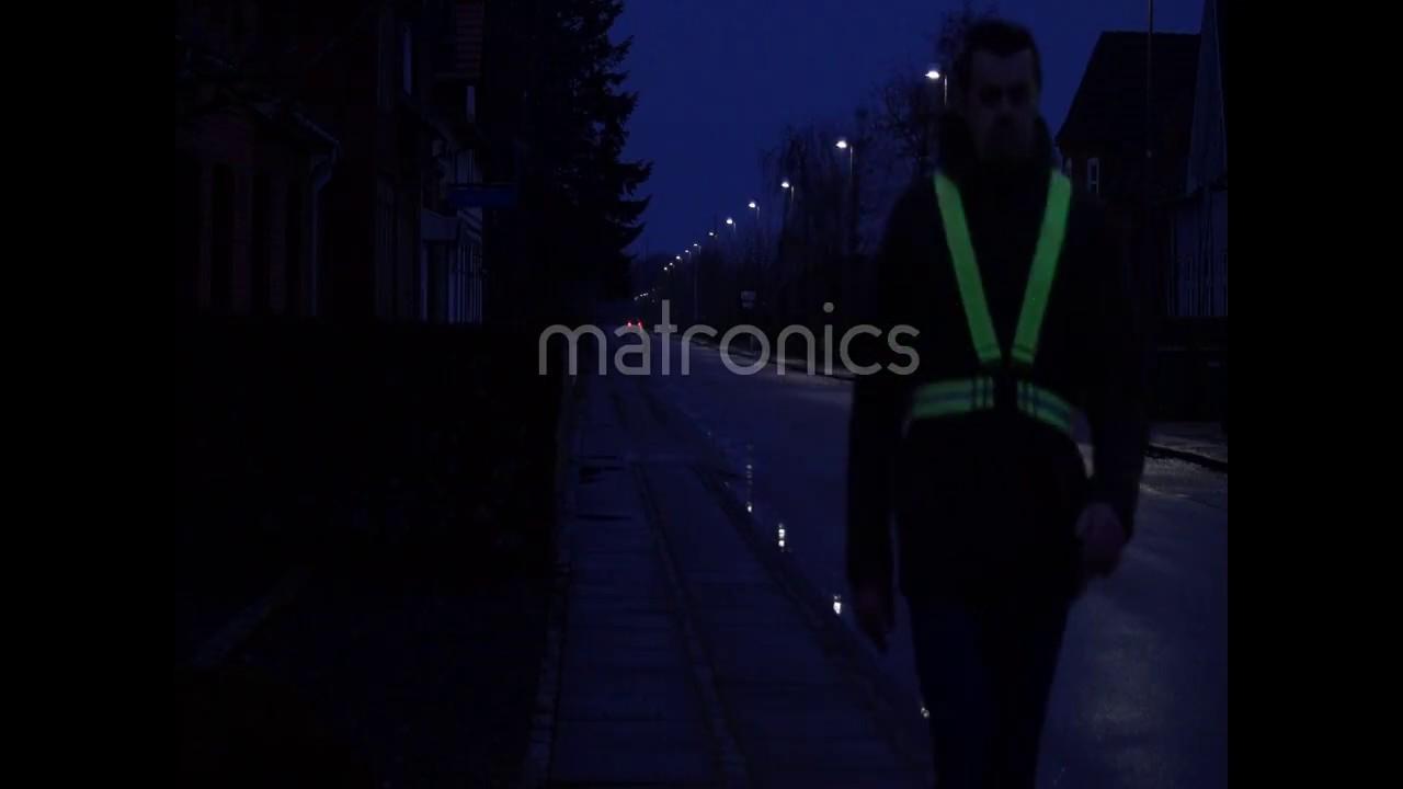 Refleks vest / seler med genopladelige LEDs