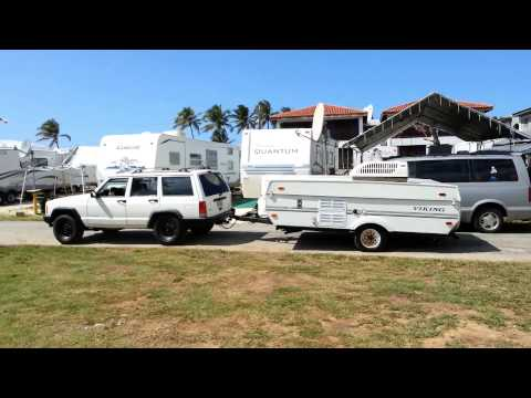 Collapsing and towing a Viking Pop Up Camper