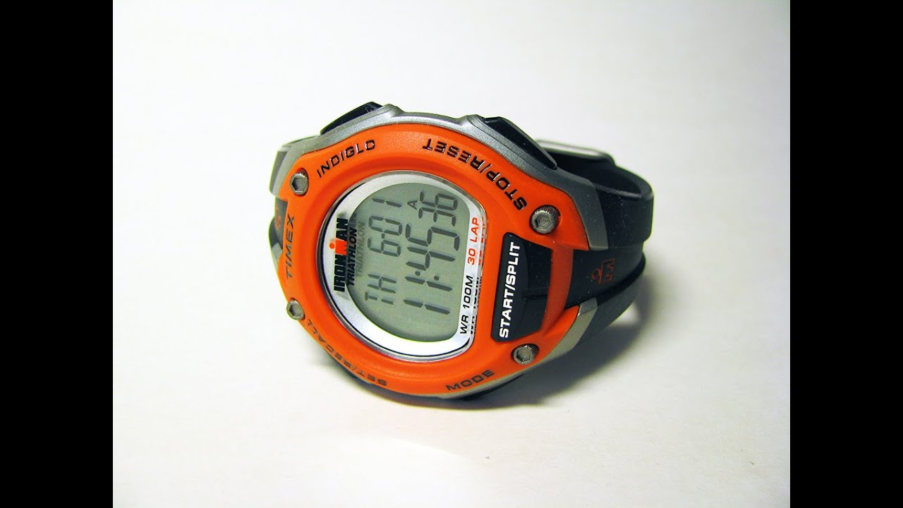 afbfed77093a Timex T5K529 Ironman 30 Lap Oversize Watch - Black Orange - YouTube