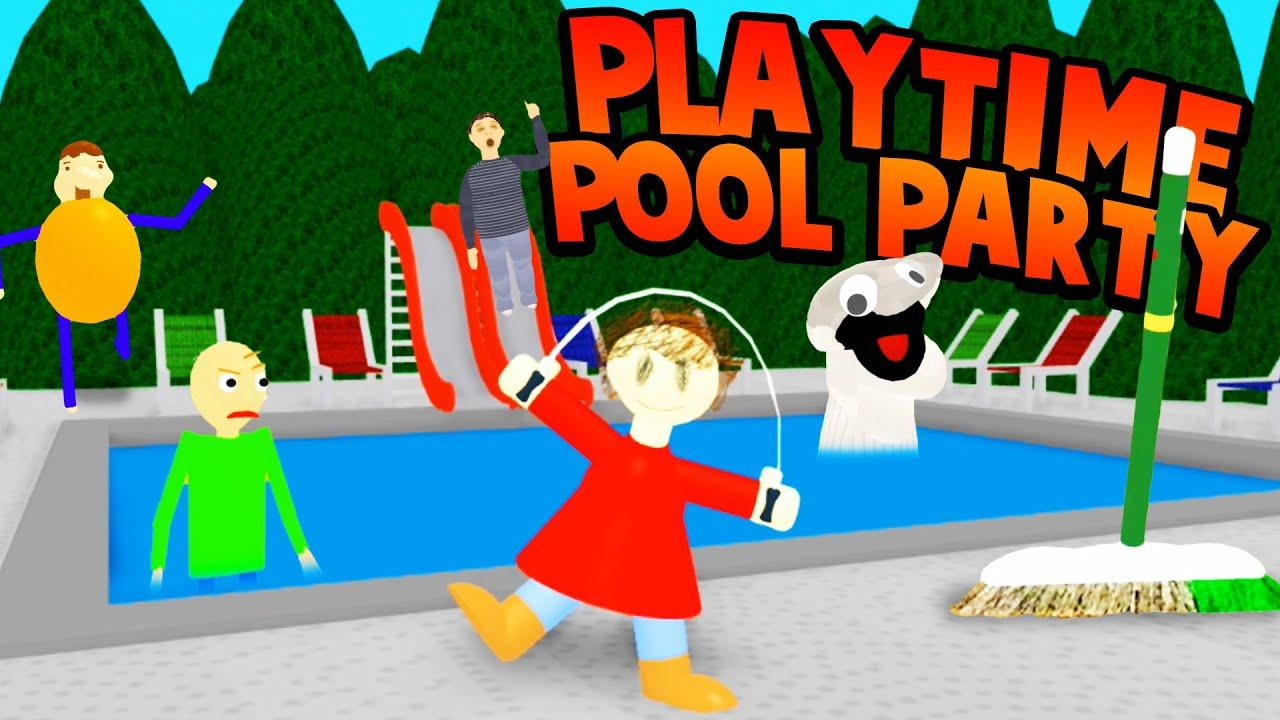 Pool Party With Playtime I Wanna Swim With Someone Baldi S