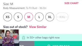 How to Select Size on Myntra (top