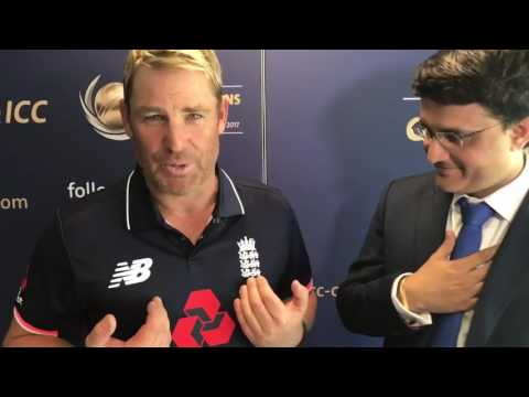 Shane Warne in England Jersey and He Blames Sourav Ganguly   ICC Champions Trophy 2017 #CT17