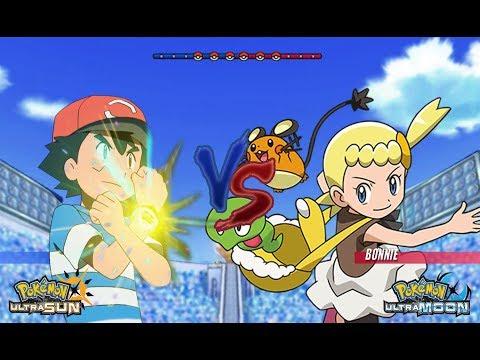 Pokémon Battle USUM: Ash Vs Bonnie (Alola Vs Kalos)