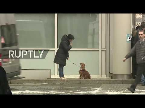 Live outside British Embassy in Moscow as diplomats expected to leave country