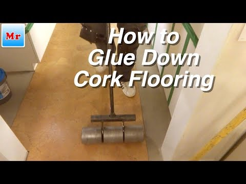 How to Install Glue Down Cork Flooring Over Concrete Subfloor in Bathroom and Kitchen
