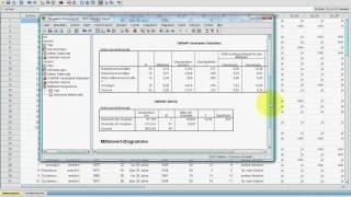 SPSS Video-Seminar #  Teil 32: Inferenzstatistik -- ANOVA Berechnung