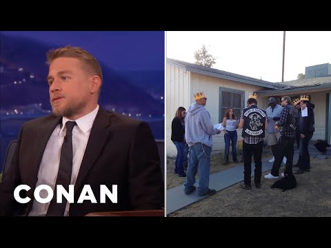 """How Charlie Hunnam's """"Sons Of Anarchy"""" Co-Stars Reacted To His King Arthur Cast...  - CONAN on TBS"""