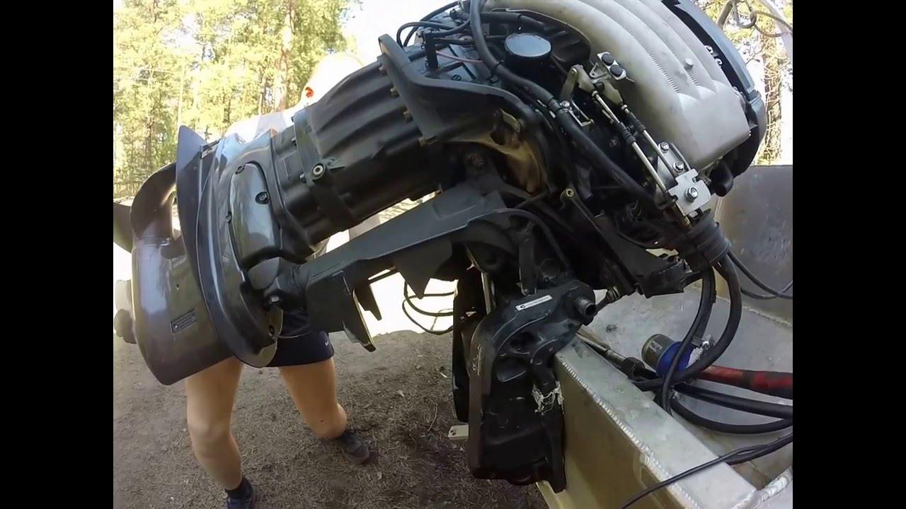 Лодочный мотор Tohatsu 5 л.с Обслуживание и ТО (3 часть) винт редуктор