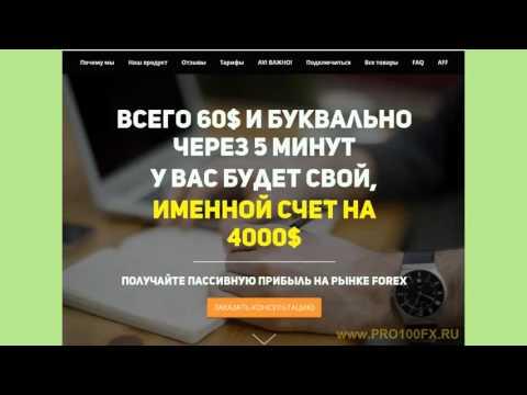 Открытие счета. Вывод, внутренний перевод. Www.pro100fx.ru