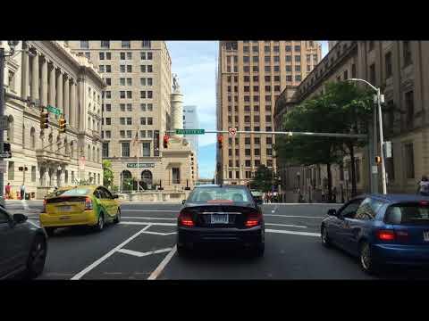 Driving Downtown - Baltimore Maryland USA