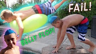 Hudsons Huge Belly Flop! Our Big Announcement! Can You Guess What It Is?!