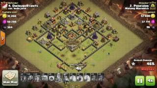 The strongest war base: Base war TH 10 terkuat - November 2016 (replay attack) - tipe 1