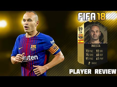 FIFA 18 SECOND INFORM 89 ANDRES INIESTA PLAYER REVIEW! BEST MIDFIELDER ON FIFA 18 ?!