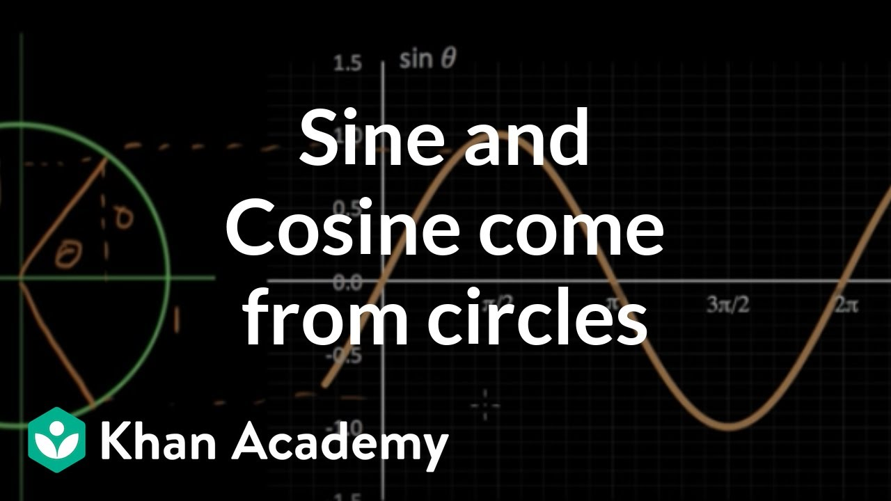Sine and cosine come from circles (video) | Khan Academy