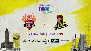 TNPL 2.0: Dindigul Dragons vs Ruby Trichy Warriors