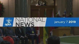 APTN National News January 7, 2019 – Saskatchewan gives apology, RCMP move to remove two blockades