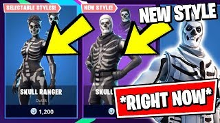 *NEW* SKULL TROOPER & STYLE *RIGHT NOW* (Fortnite CHAPTER 2 Update & ITEM SHOP)