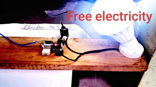 Electric 2019 free Energy generator 100% self running with DC motor using wheel 220v_chia sẻ 07