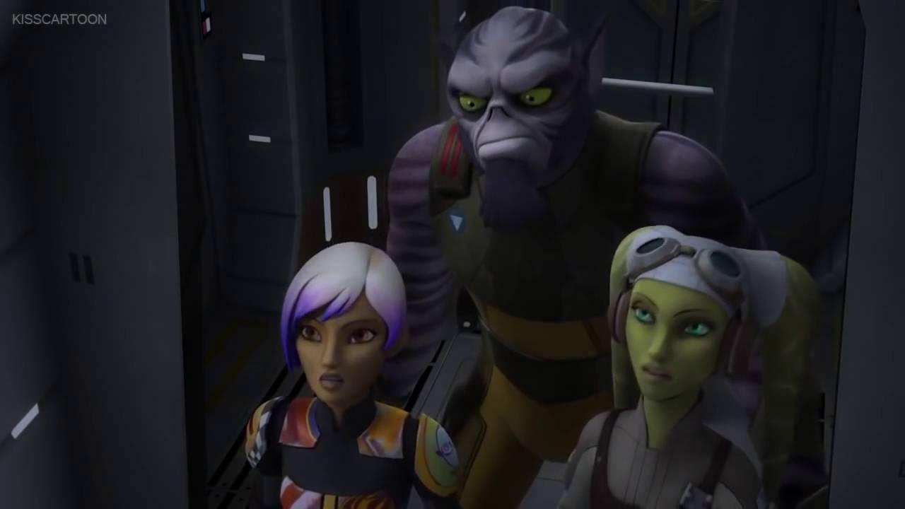 Star Wars Rebels Hera, Sabine And Zeb Vs Maul - YouTube