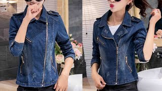 Women Vintage Jean Short Jacket Tops Coat Denim Jacket Review