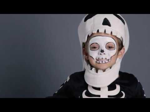 Fun Halloween Makeup Tutorial - Skeleton Costume for Pottery Barn Kids