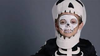 Fun Halloween Makeup Tutorial - Skeleton Costume for Pottery Barn Kids