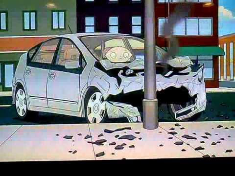 Family Guy Stewie Crashes Brain S Prius Youtube