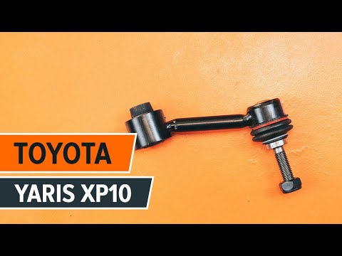 How to replace front anti roll bar link on TOYOTA YARIS XP10 TUTORIAL | AUTODOC
