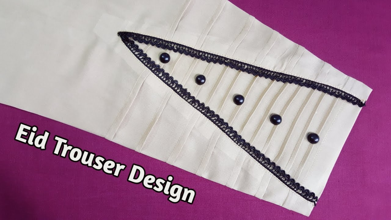 Very Stylish Trouser Poncha Design For Eid \Salwar Design