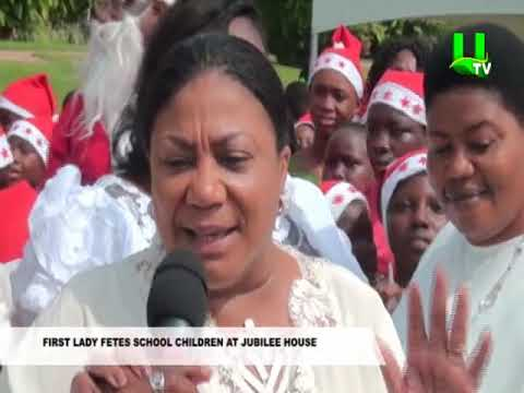 First Lady fetes School Children At jubilee House