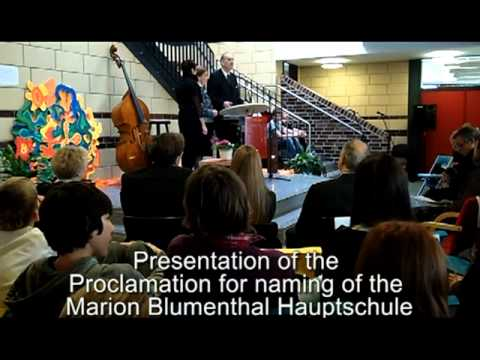 School In Germany Named After Holocaust Survivor Marion Blumenthal Lazan
