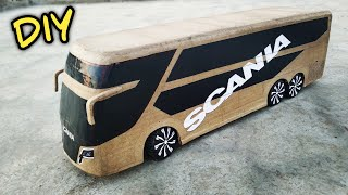 How to make RC Bus ( SCANIA Super Bus ) Amazing Cardboard diy Very Simple