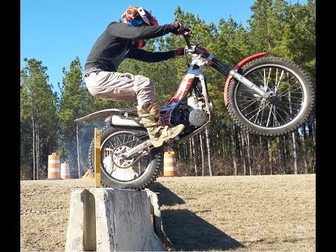 First time K-rail on the trials bike!