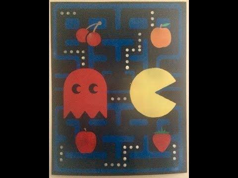 Pacman Spray Paint Art Creation