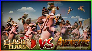 Avengers Infinity War Trailer Clash of Clans version | CoC Avengers - Clash of Clans