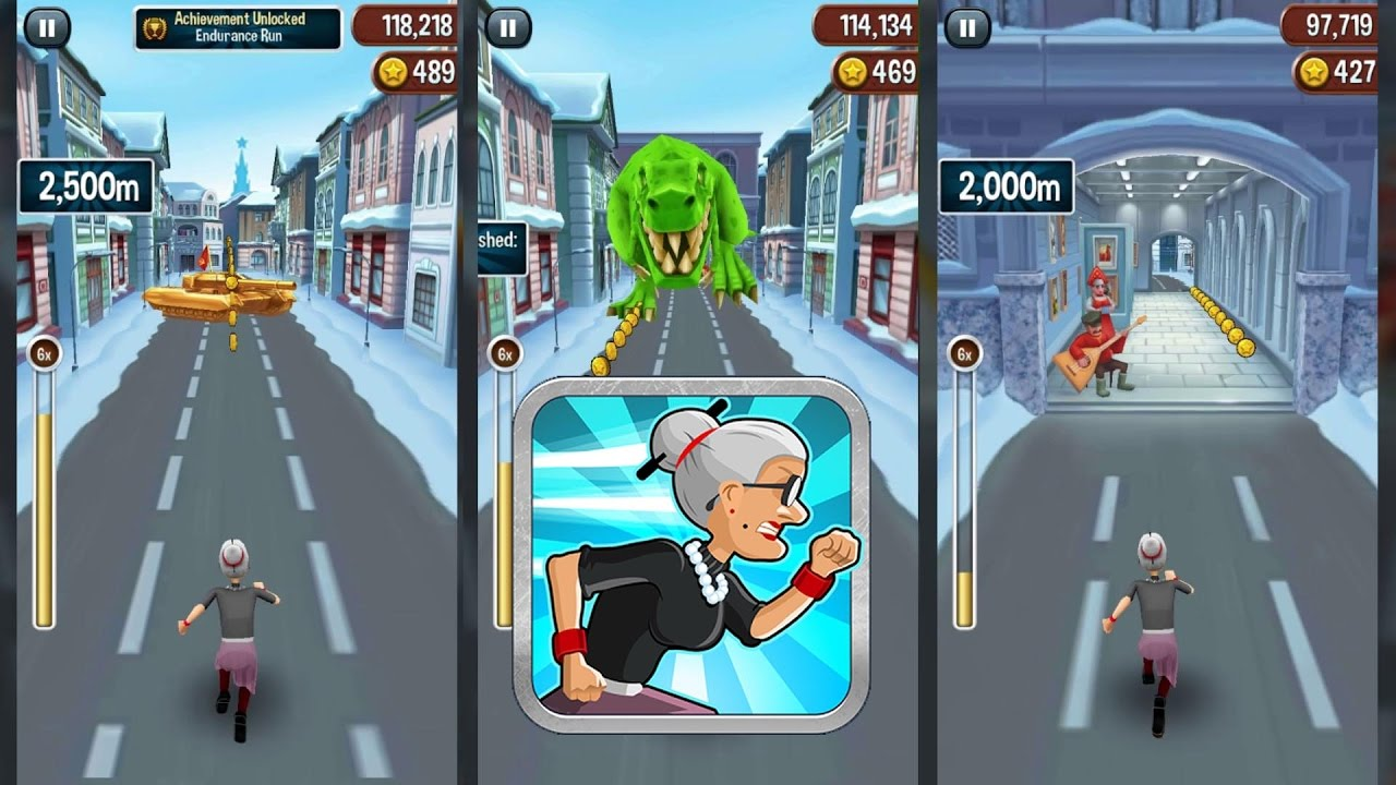 Angry gran run 2 play game online!!!