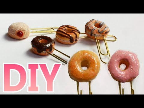DIY Paperclip Donuts - Back to school