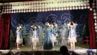 танец снегурочек 'Белая зима', Новогодний концерт 2014, п.Воронцовка