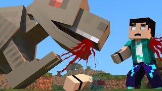 Minecraft - DINOCRAFT! #13 O DINOSSAURO QUER ME COMER!!