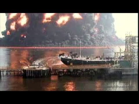 Tremendous Gas Barge Explosion In New York City, 2003 - Complete Footage At 4X Playback Speed