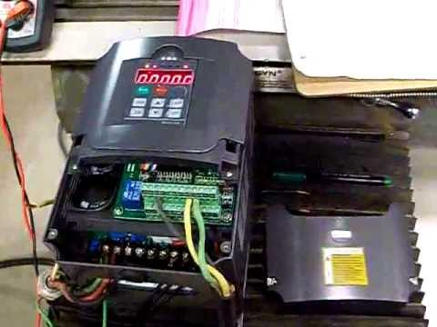 HUANYANG 4.0 KW INVERTER VFD HOW TO SETUP AND WIRE SINGLE PHASE 220V BRIDGEPORT MILL PHASE CONVERTER
