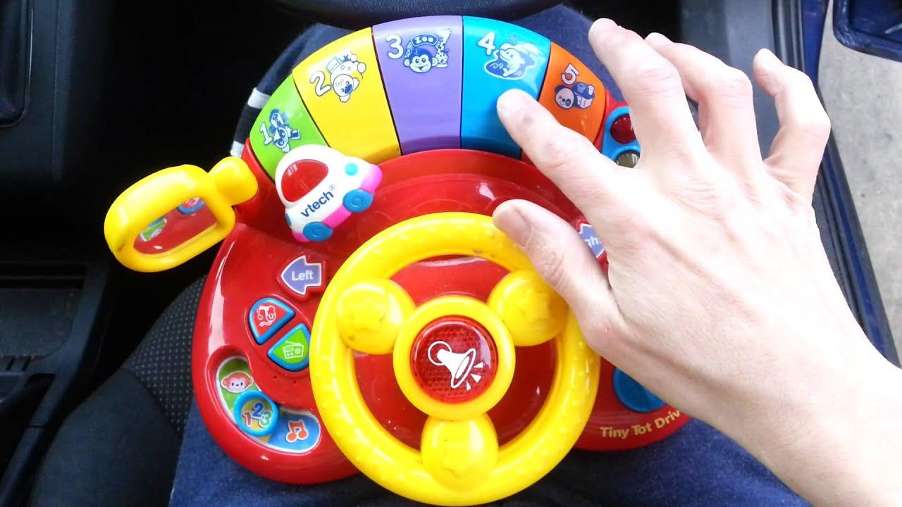vtech tiny tot driver steering wheel car toy full repertoire demonstrated youtube