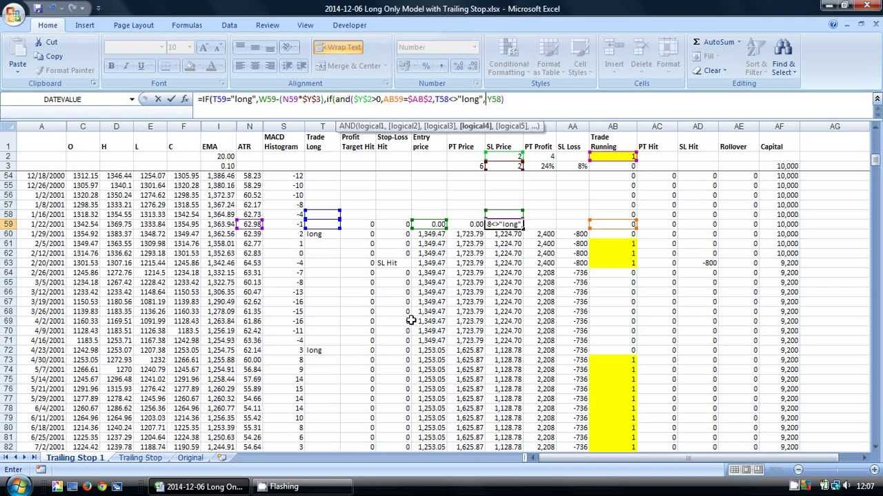 How to backtest a trading strategy using excel mark ursell