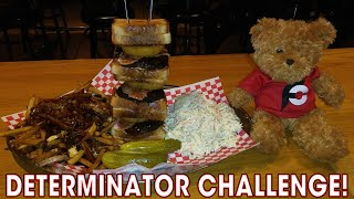 TRIPLE GRILLED CHEESE BURGER CHALLENGE w/ POUTINE!!