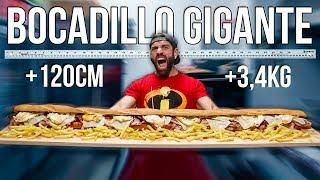 BOCADILLO GIGANTE +3,4KG   EL RETO MÁS DURO QUE HE HECHO