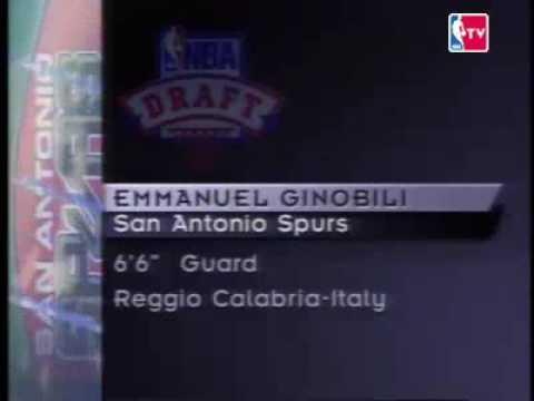 Manu Ginobili draft 6/30/99