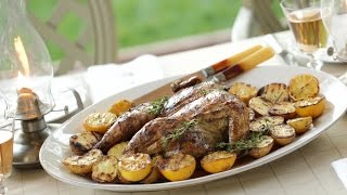 Grilled Lemon Thyme Chicken and Potatoes (Sponsored by Coyote Outdoor Living!)