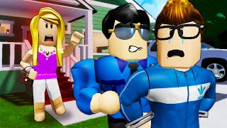 His CRAZY Wife Got Him Arrested! ( A Roblox Movie)